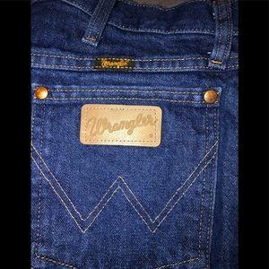 Wrangler men's jeans cowboy cut